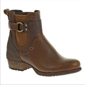 Merrell Shiloh Oak Leather Ankle Pull On Boots